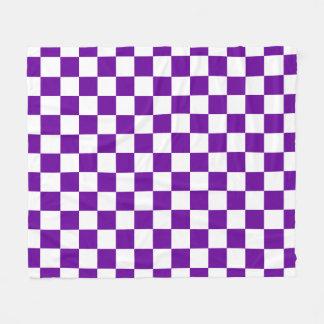 紫色の点検 フリースブランケット