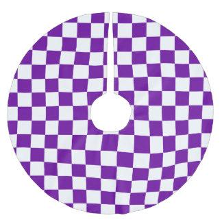 紫色の点検 ブラッシュドポリエステルツリースカート