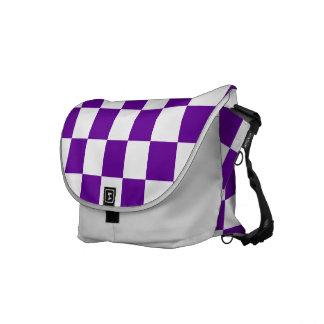 紫色の点検 メッセンジャーバッグ