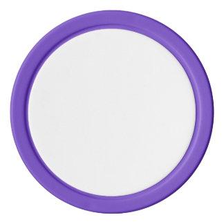 紫色の無地のな端が付いているポーカー用のチップ ポーカーチップ