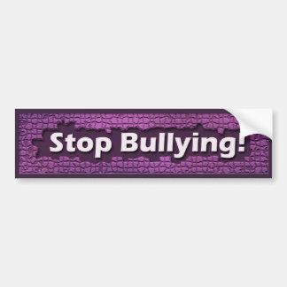 紫色の煉瓦バンパーステッカーをいじめることを止めて下さい バンパーステッカー