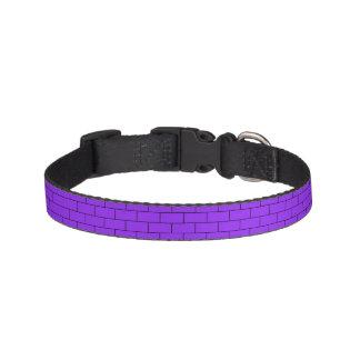 紫色の煉瓦パターン構造 ペット首輪