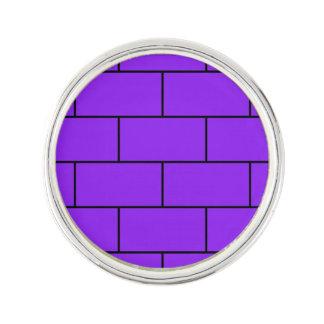 紫色の煉瓦パターン構造 ラペルピン