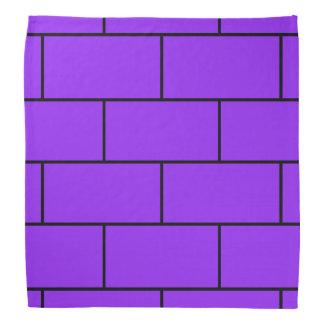 紫色の煉瓦構造パターン バンダナ