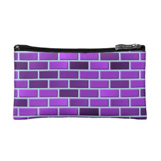 紫色の煉瓦 コスメティックバッグ