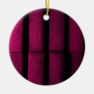 紫色の煉瓦 セラミックオーナメント