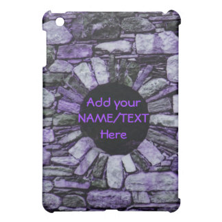 紫色の煉瓦iPadの箱を個人化して下さい iPad Mini カバー