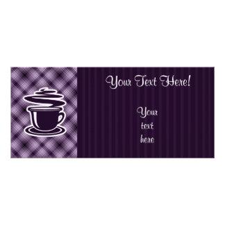 紫色の熱いコーヒー ラックカード