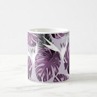 紫色の熱帯地方のマグ コーヒーマグカップ