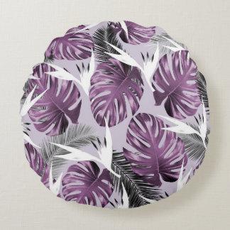 紫色の熱帯地方の枕 ラウンドクッション