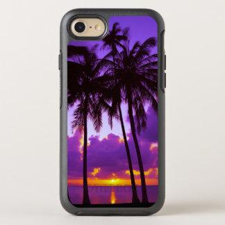 紫色の熱帯日没3 オッターボックスシンメトリーiPhone 8/7 ケース