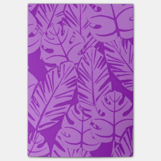 紫色の熱帯植物のポスト・イット ポストイット