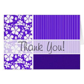 紫色の熱帯花 カード