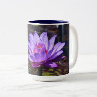 紫色の熱帯《植物》スイレン15のozのマグ#2 2017年 ツートーンマグカップ