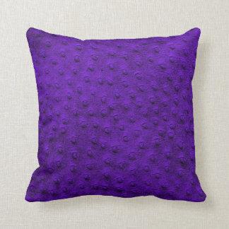 紫色の特大だちょうの革穀物の枕 クッション