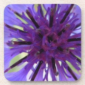 紫色の独身ボタンの上で閉めて下さい コースター