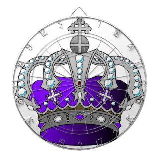 紫色の王室のな王冠 ダーツボード
