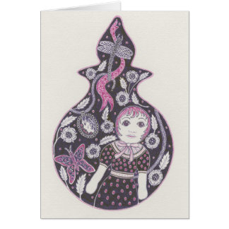 紫色の瓶カード カード