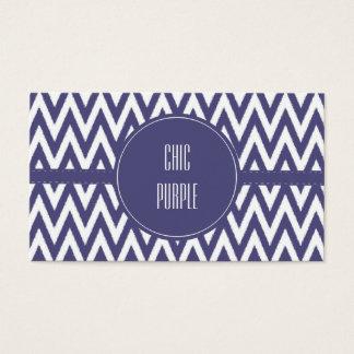 紫色の白いシェブロン 名刺