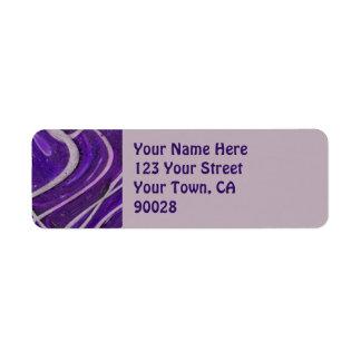 紫色の白いパターン ラベル