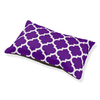 紫色の白いモロッコのクローバーパターン#5
