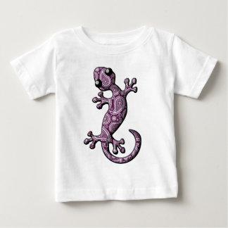 紫色の白い登山のヤモリのトカゲ ベビーTシャツ