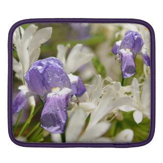 紫色の白い至福 iPadスリーブ