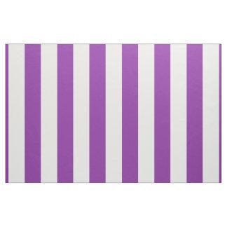 紫色の白のストライプのデザイン ファブリック