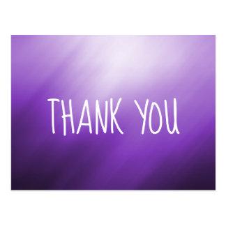 紫色の白の抽象芸術は感謝していしています ポストカード