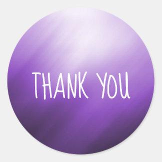 紫色の白の抽象芸術は感謝していしています ラウンドシール