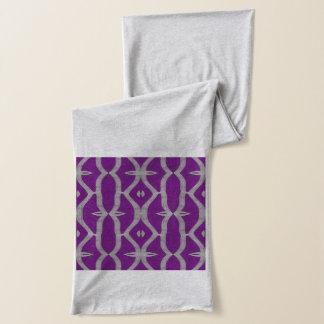 紫色の白の空想パターン スカーフ