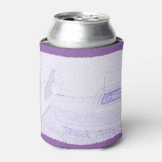 紫色の白をサーフする波のサーフボードの掘っ建て小屋の攻撃 缶クーラー
