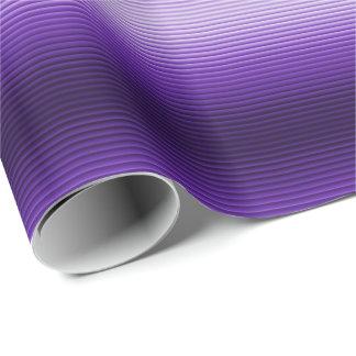 紫色の白熱ストライプなギフトの包装紙 ラッピングペーパー