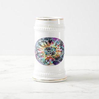 紫色の白熱 ビールジョッキ