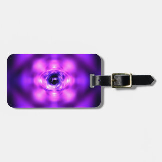 紫色の白熱[赤熱]光を放つな原子 ラゲッジタグ