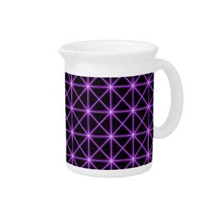 紫色の白熱[赤熱]光を放つな格子 ピッチャー