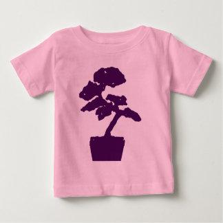 紫色の盆栽 ベビーTシャツ
