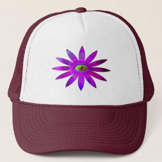 紫色の目の花 キャップ