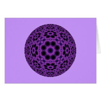 紫色の目まぐるしい球体 カード