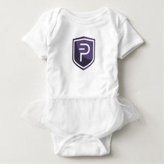 紫色の盾PIVX ベビーボディスーツ