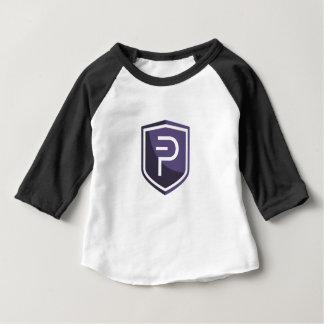 紫色の盾PIVX ベビーTシャツ