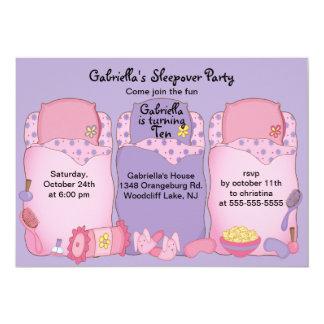 紫色の眠りの誕生会 カード