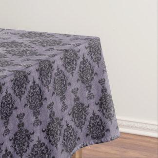紫色の石のダマスク織のゴシック様式黒 テーブルクロス