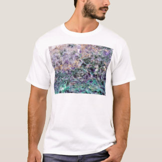 紫色の石造りの質 Tシャツ