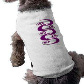 紫色の種族のらせん状 ペット服