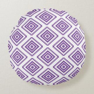紫色の種族の枕 ラウンドクッション