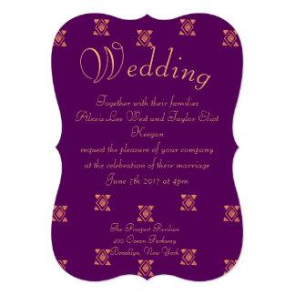 紫色の種族の結婚式 カード