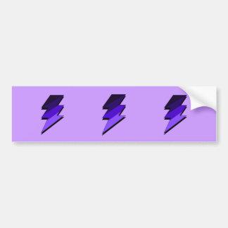 紫色の稲妻の落雷 バンパーステッカー
