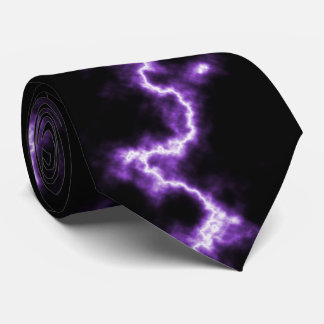 紫色の稲妻 ネクタイ