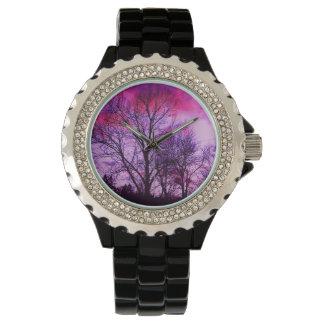 紫色の空想 腕時計